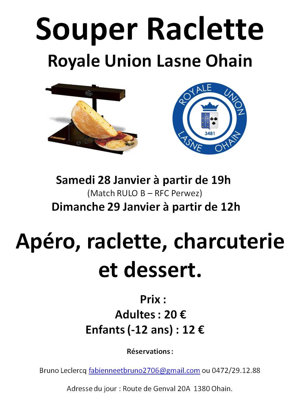 Affiche souper raclette RULO 2017